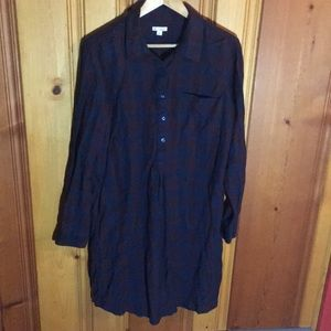 Gap flannel dress.